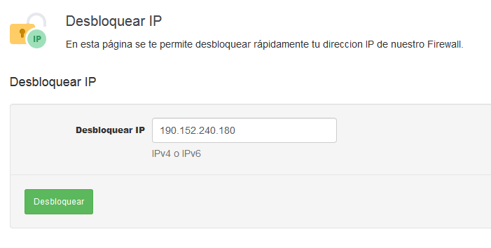 Desbloquear IP Firewall Hosting